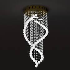 spiral crystal chandelier 3d model