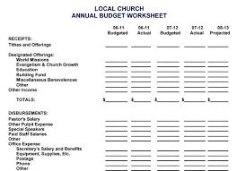 Budget Forms Pdf Budget Template Pdf Church Free Excel Word Doc Printable