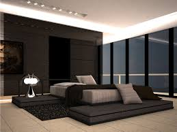 Nice modern bedroom lighting Ideas Black Gloss Wall Panel With Large Platform Size Bedding And Modern From Modern Lighting And Home And Bedrooom Modern Lighting And Furniture Bedroom Ideas Rememberingfallenjscom