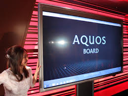 sharp 80 inch tv aquos. sharp 80 inch aquos board up close tv