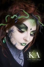 medusa makeup by katie alves it has the traditional snake but also stone creeping up