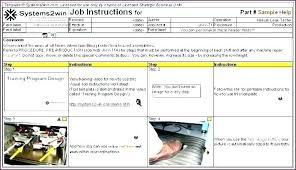 Standard Work Templates Site Instruction Template Word
