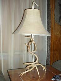 exquisite lighting. exquisite antler lamp design with bell shade lighting