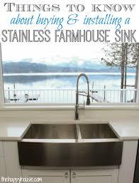 vigo farmhouse sink.  Farmhouse Things To Know About Buying U0026 Installing A Stainless Steel Farmhouse Style  Sink Throughout Vigo C