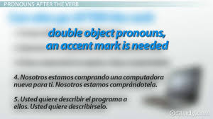 Using Double Object Pronouns In Spanish Video Lesson