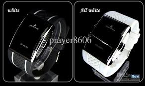 led bracelet intercrew sport rubber bands watch men s watches 4 colours available all white all black red black and white black please let me know the appointed colours before your order otherwise i`ll send them