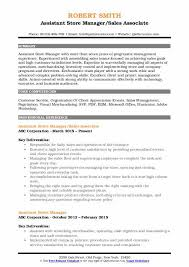 Sample Resume Of Store Manager Assistant Store Manager Resume Samples Qwikresume