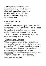 instruction words essay writing