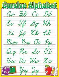 Cursive Letters Chart Handwriting Chart Cursive Cursive Alphabet Chart