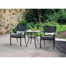 Patio 3 Piece Bistro Patio Set  Pythonet Home FurnitureThree Piece Outdoor Furniture