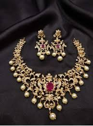 traditional indian design one gram gold choker earrings set 36552 one gram gold jewelry