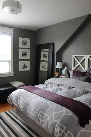 grey and purple bedroom color schemes. 8+ Gray Bedrooms Play With Coloration | Bedroom, Grey Duvet And Eggshell Purple Bedroom Color Schemes E
