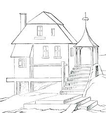 House Coloring Pictures House Pictures Coloring Pages