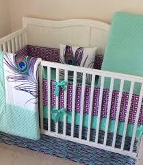 beautiful baby girl crib bedding set peacock mint teal purple purple and mint crib bedding