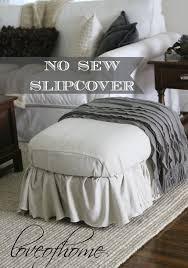 cover furniture. nosew ottoman slipcover using painteru0027s drop cloth cover furniture