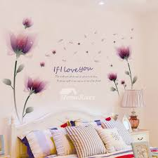 bedroom wall art stickers flower letter