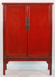 red lacquered furniture. Antique Asian Furniture: Chinese Red Lacquered 2- Door Cabinet From Shanxi Province, Furniture I