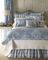 checked country manor european sham toile bedding blue ivory for adorable toile bedding applied