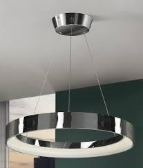 single uber trendy circlular led pendant chandelier