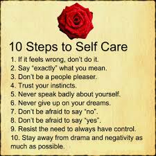 10 Steps Of Self Care Quotes Area