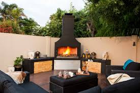 finish options outdoor wood burning fireplaces with regard to impressive schist outdoor fireplace design