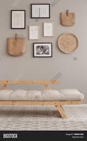 Futon Interior Design Scandinavian Beige Image Photo Free Trial Bigstock