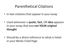 the research paper works cited parenthetical citations the 4 parenthetical citations