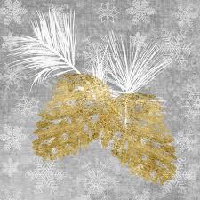 Servietten 25x25 Cm Holiday Pinecones