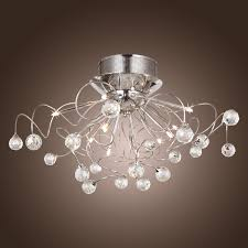 modern crystal chandelier with 11 lights chrom flush mount chandeliers modern ceiling light fixture for hallway entry bedroom living room with bulb
