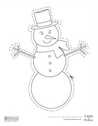 Template Of A Snowman Large Snowman Template Snowman Craft Template Large Snowman