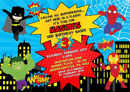 superheroes birthday party invitations superhero birthday party invitations sansalvaje com