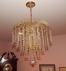 schonbek 6 light crystal chandelier waterfall 2956 discontinued style