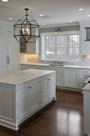 white kitchen lighting. 30 Spectacular White Kitchens With Dark Wood Floors Gray Painted Light Grey Kitchen Walls Cabinets E1160392ff80fa972557b6657cc0b16a Lighting