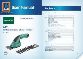 gardenline gl36gs owner s manual manualzz