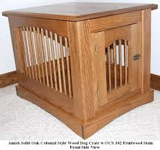 dog crates furniture style. amish custom built colonial wooden dog crate end table crates furniture style