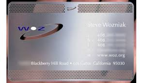 Steel Business Cards Sourcing Wozniaks Photochemically Etched Steel Business Cards Core77