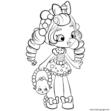 Girls Shopkins Coloring Pages Free