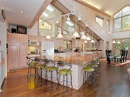 Kitchen  Luxury White Open Kitchen Floor Plans Wooden Floor        Open Kitchen Floor Plans Give Fresh Ambience inside the House   Awesome Open Kitchen Floor Plans