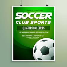 soccer team brochure template soccer championship flyer template vector free download