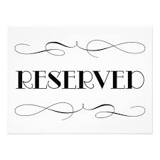 reserved sign templates reserved signs for wedding wedding photography