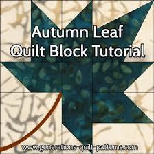 Autumn Leaf Quilt Block: A Maple Leaf variation, 3 sizes & Autumn Leaf quilt block tutorial starts here Adamdwight.com