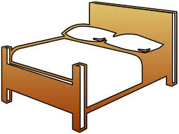 bed clipart.  Bed Bed Cutout Clip Art With Clipart