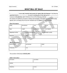 bill of sale create a boat or watercraft bill of sale form templates