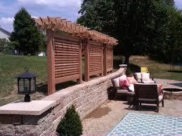 cedar privacy screen modern patio st louis by