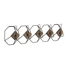 Wire Coat Rack Geometric Wall Hook Coat Rack 11