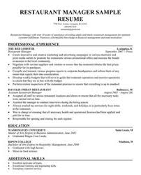 resume restaurant manager objective sample     Resume and Cover Letter Writing and Templates