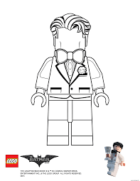 Coloriage Bruce Lego Batman Movie Dessin