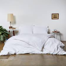 linen duvet cover with hemstitch throughout white remodel 13