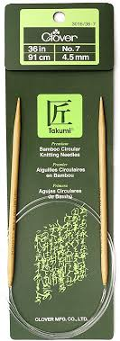 You can use them for a range of projects. Amazon Com Clover Takumi Bamboo Circular 36 Inch Knitting Needles Size 7 3016 36 07