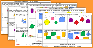 Sort 3D Shapes Year 1 Geometry Reasoning and Problem Solving ...